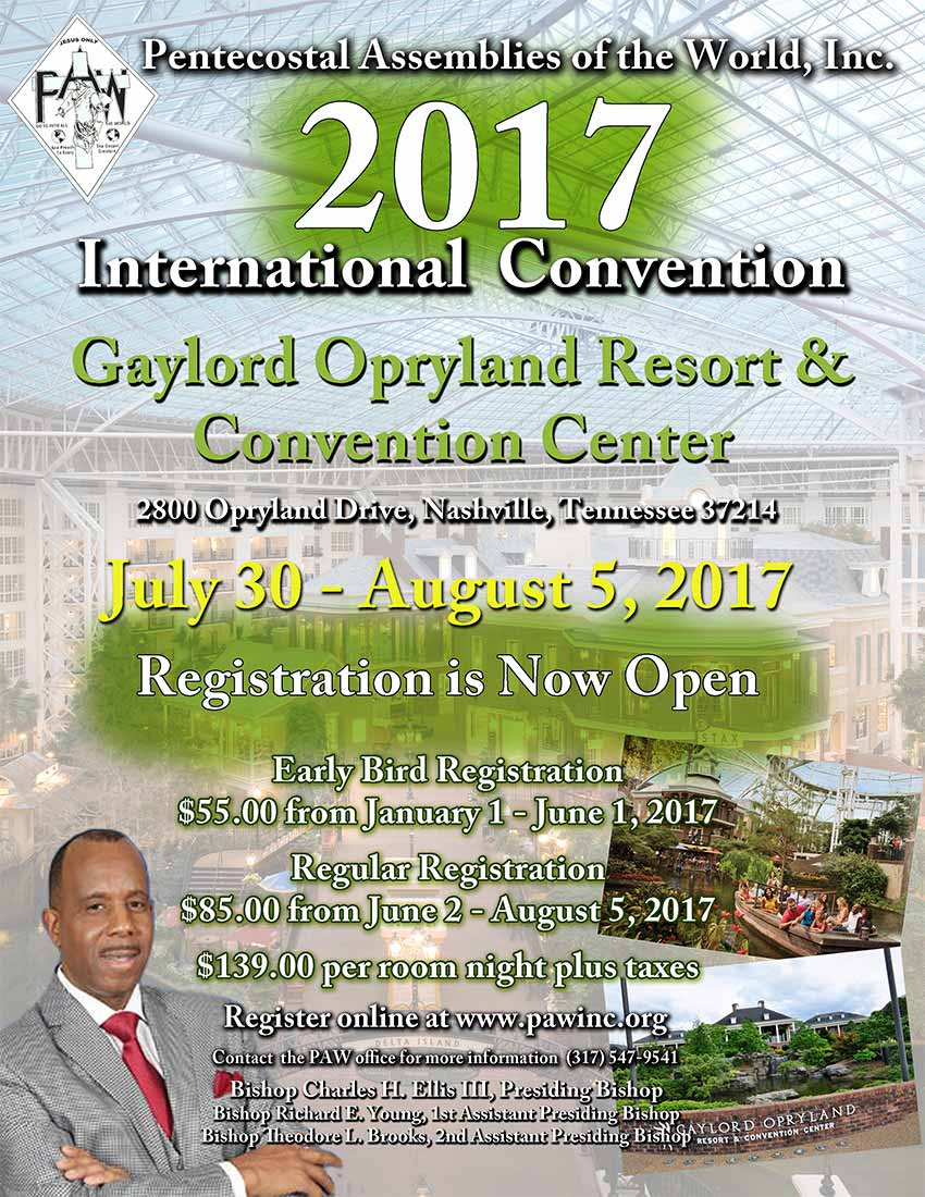 102nd Summer Convention in Nashville, Tennessee. Register NOW!