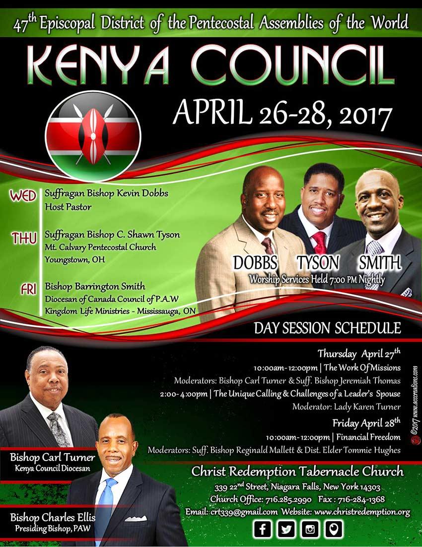 Kenya Council Meeting April 26-28