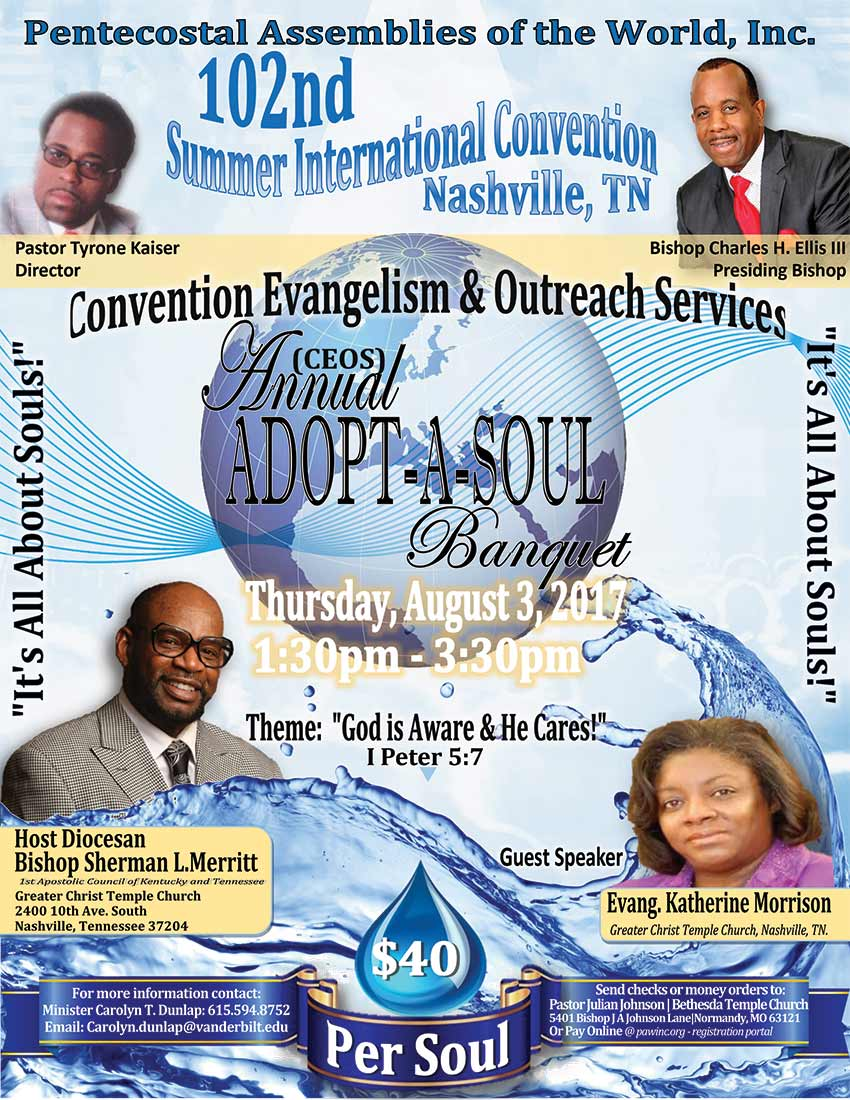 Convention Evangelism and Outreach Services Adopt-a-Soul Banquet