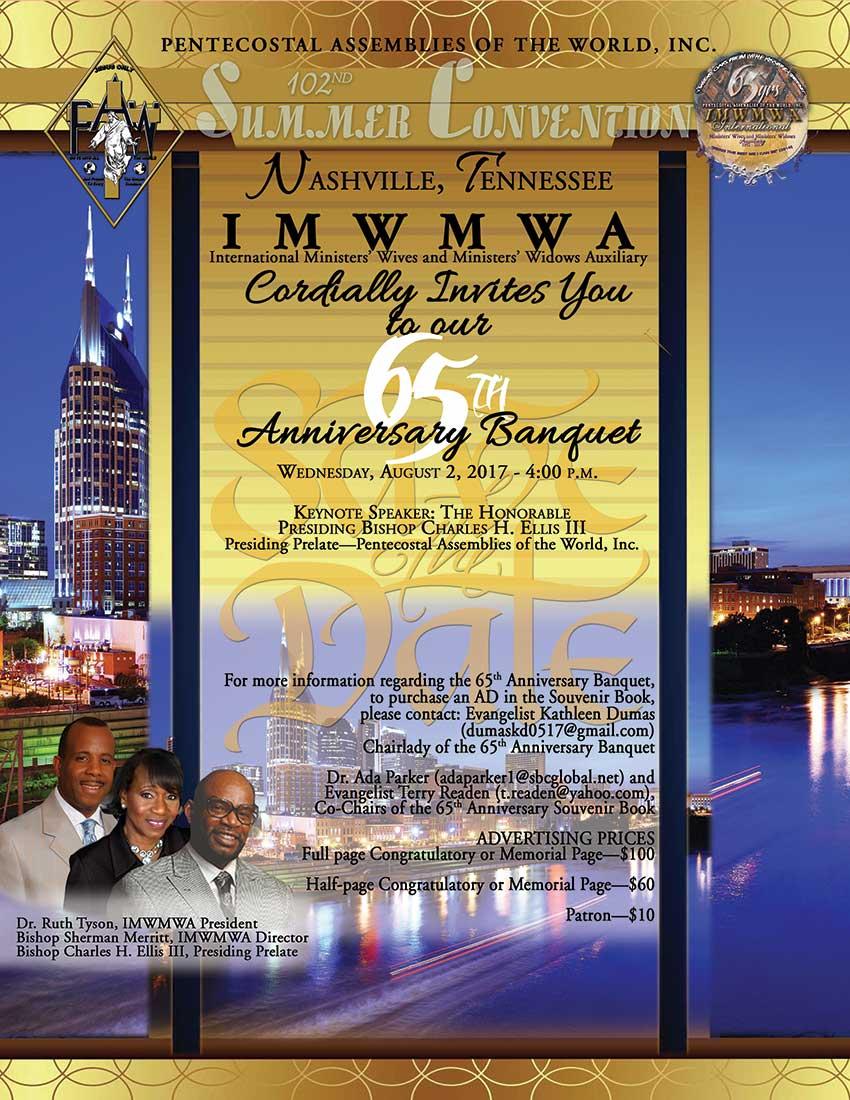 IMWMWA 65th Anniversary Banquet