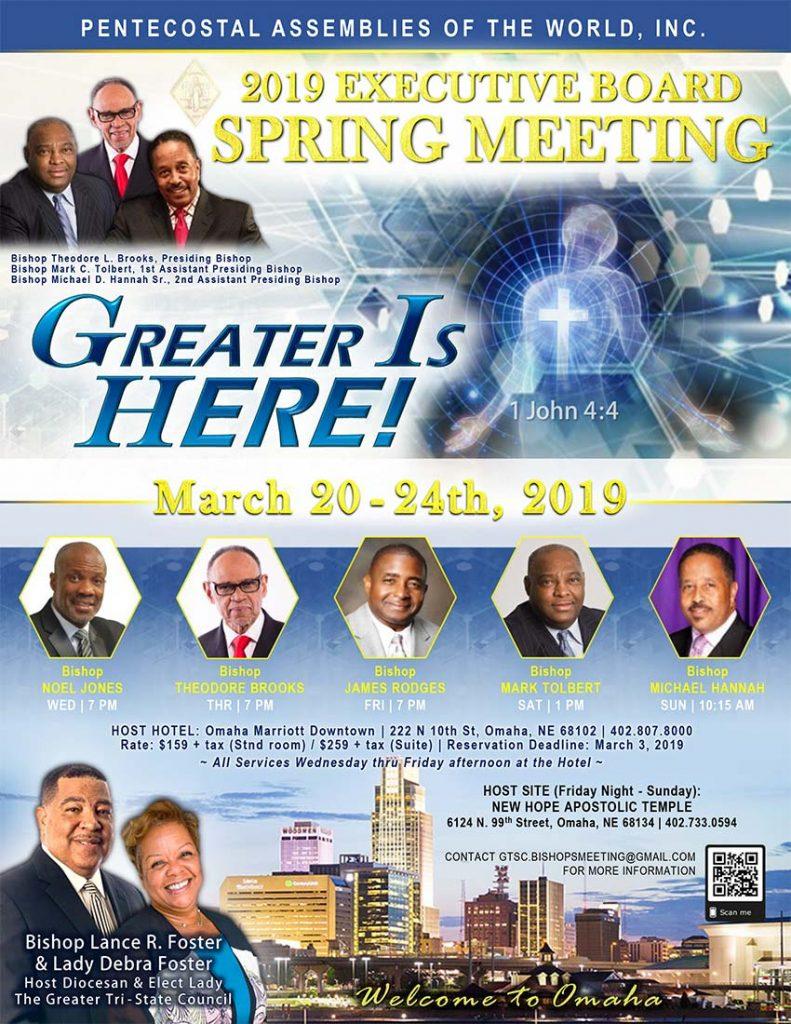 Spring Meeting 2019 in Omaha, NE