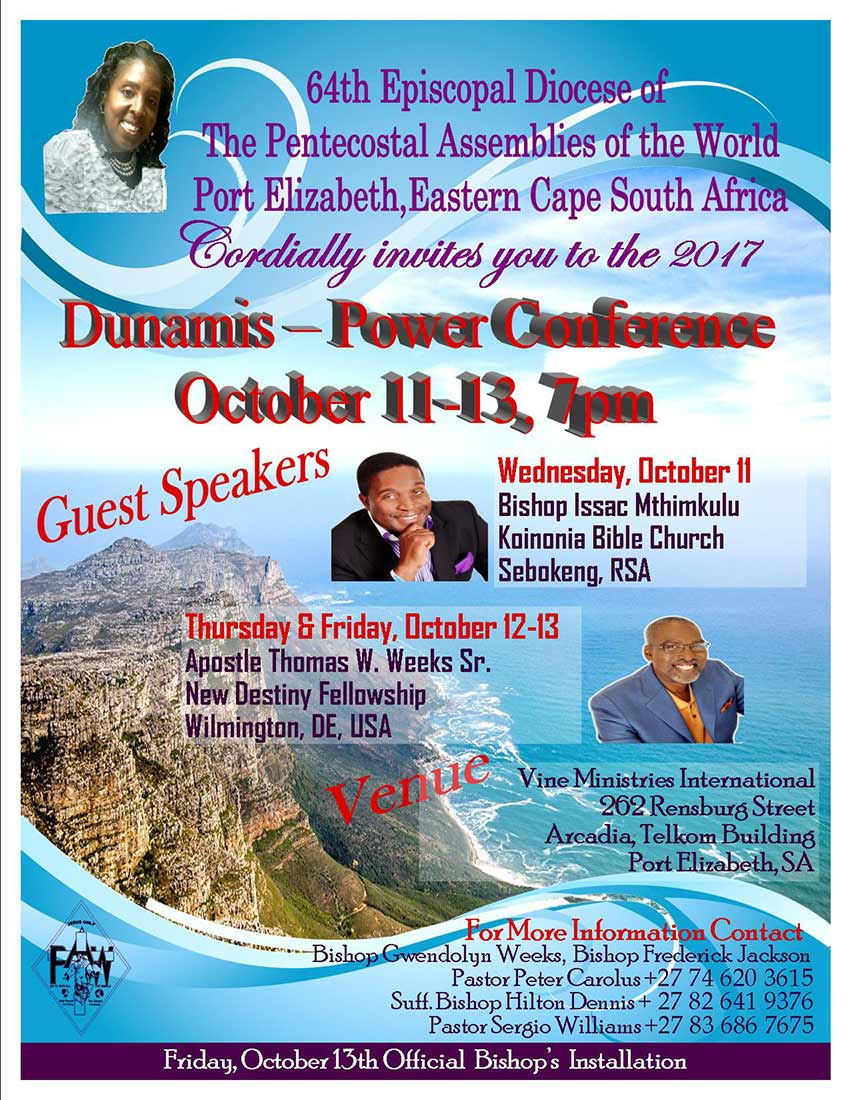 Eastern Cape South Africa District Council Fall 2017