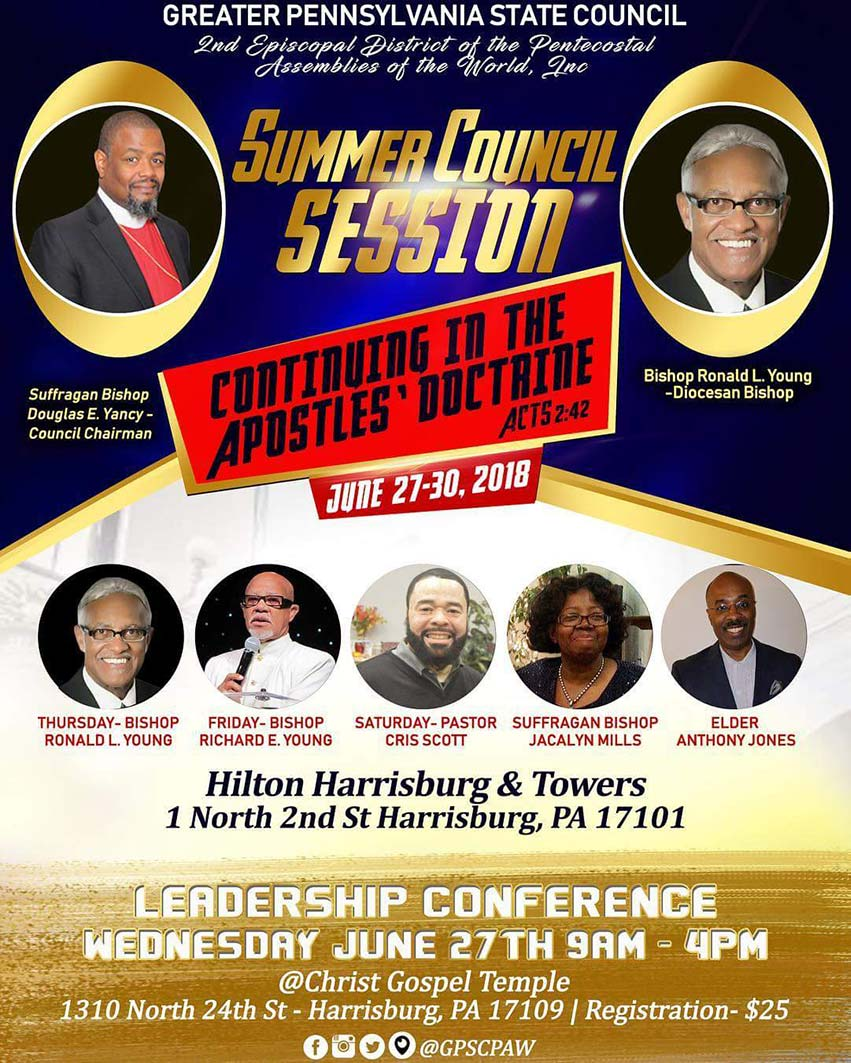 Greater Pennsylvania State Council Meeting Summer 2018