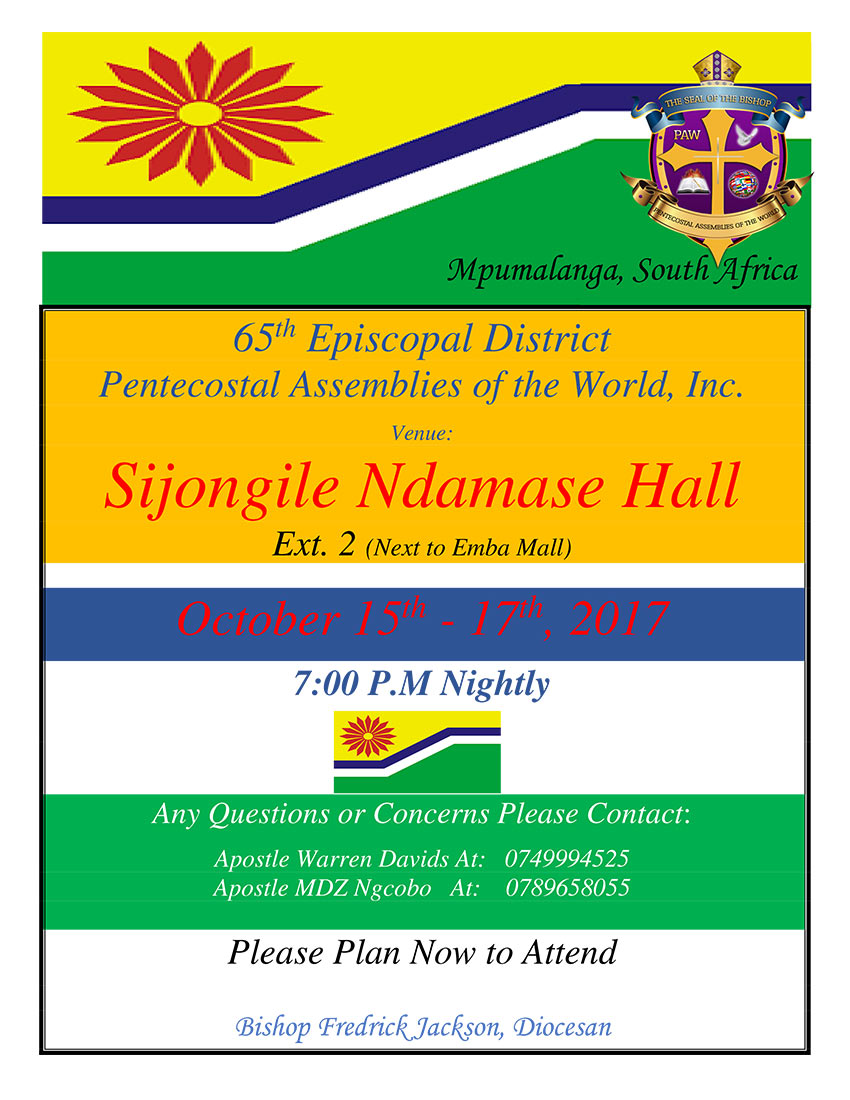 Mpumalanga Province South Africa District Council Fall 2017