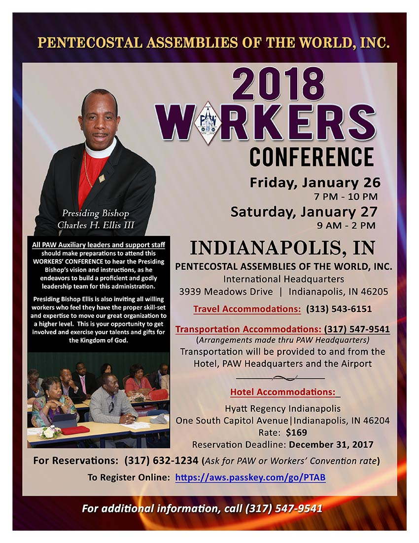 Workers Conference - January 26-27, 2018 P.A.W. HQ Indianapolis