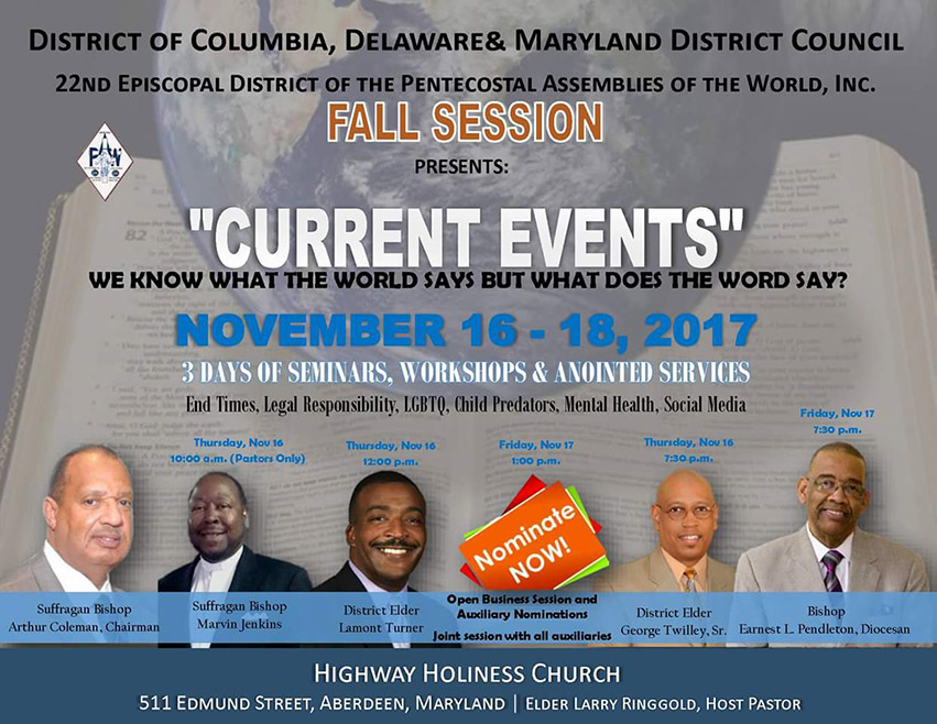 DC Delaware Maryland District Council Meeting - Fall 2017