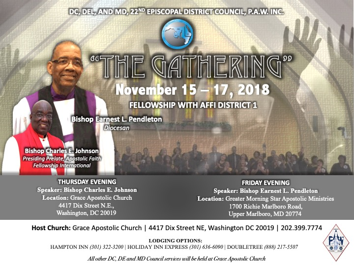 DC Delaware Maryland District Council Meeting - Fall 2018