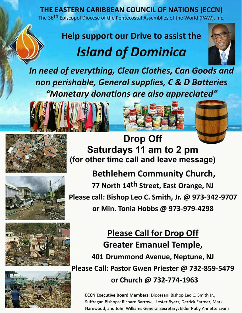 Support the Island of Dominica by Giving.