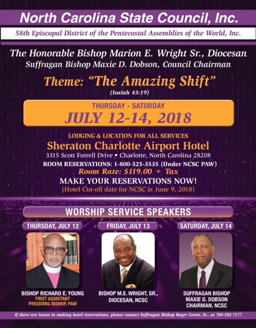 North Carolina State Council Meeting Summer 2018