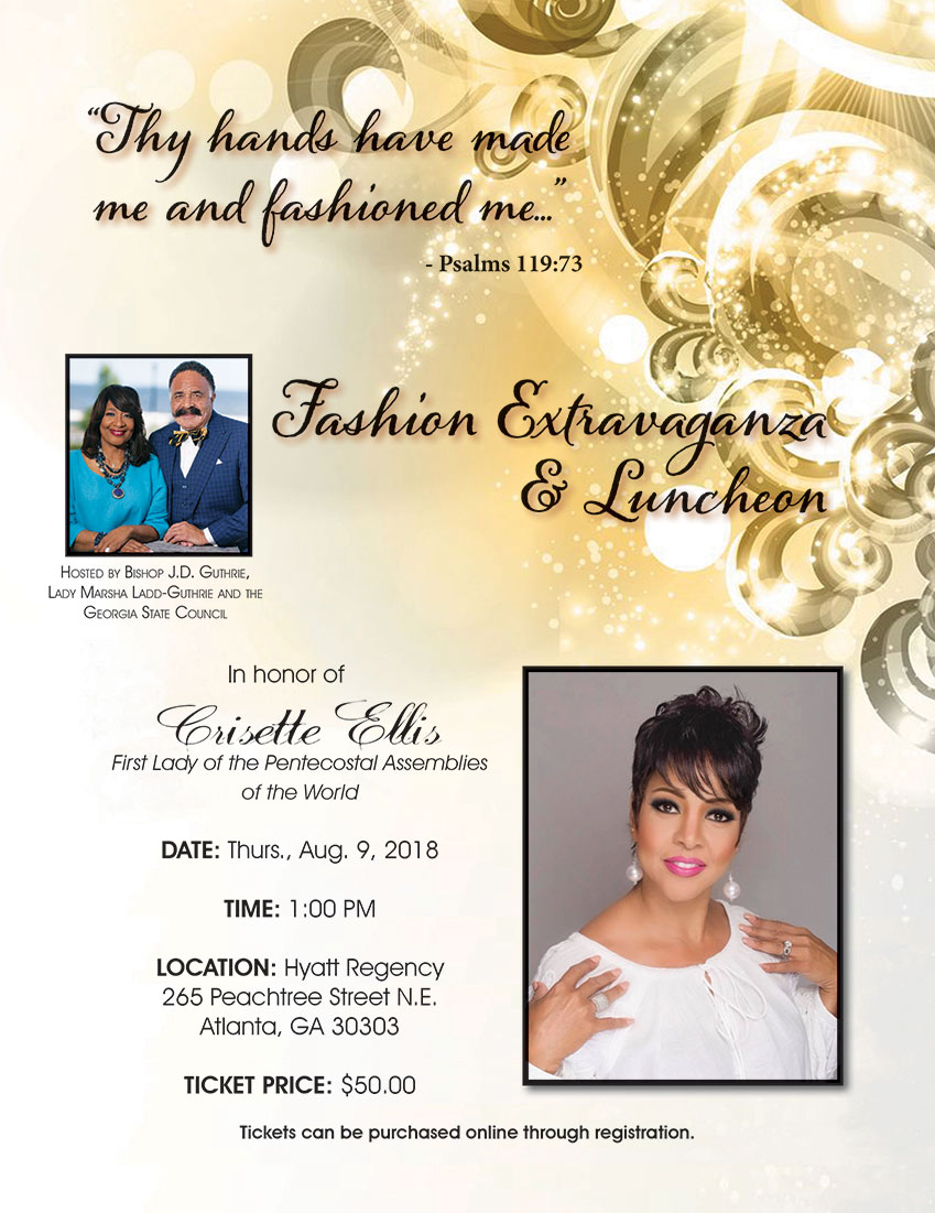 Fashion Extravaganza & Luncheon honoring Lady Crisette Ellis