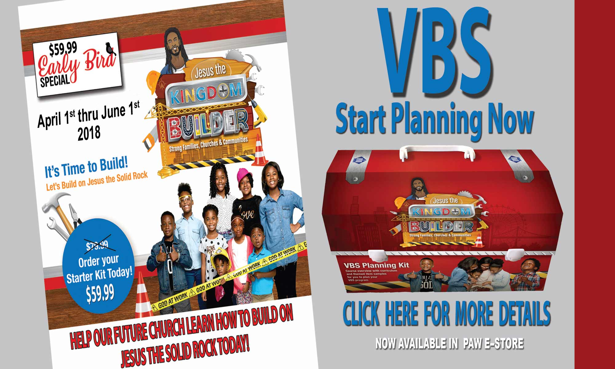 Buy Vacation Bible School Materials NOW!