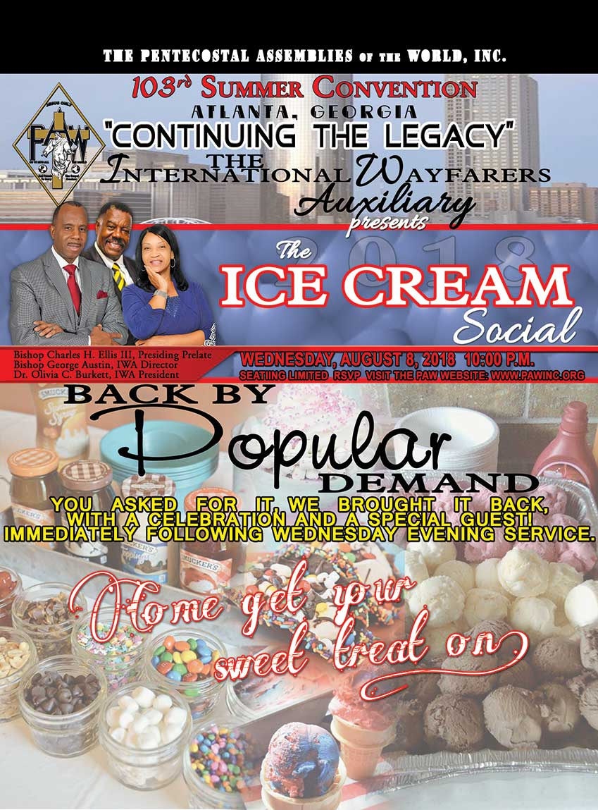 International Wayfarers Auxiliary present the Ice Cream Social at 2018 Summer Convention