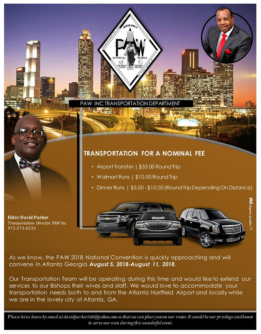Transportation offered during 2018 Summer Convention in Atlanta, Georgia.