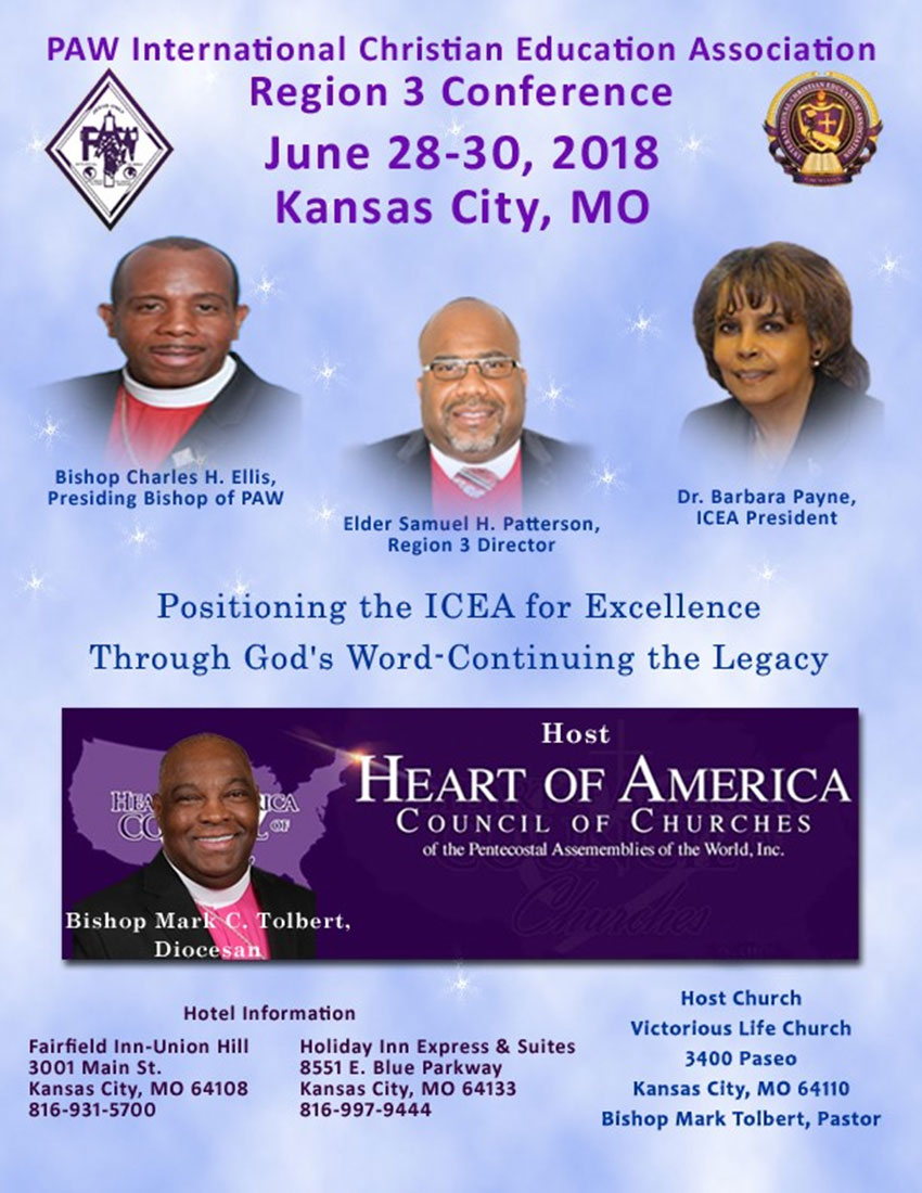 International Christian Education Auxiliary Region 3 Conference - Summer 2018