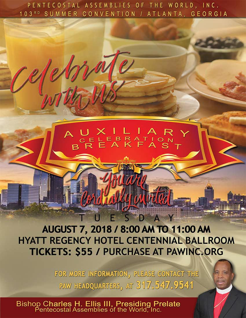 Get your tickets for the Auxiliary Celebration Breakfast at the 103rd Summer Convention in Atlanta.