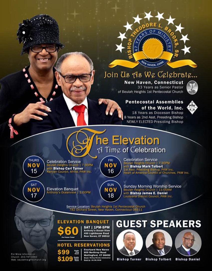 Presiding Bishop Theodore Brooks and Lady Janice Brooks Celebration