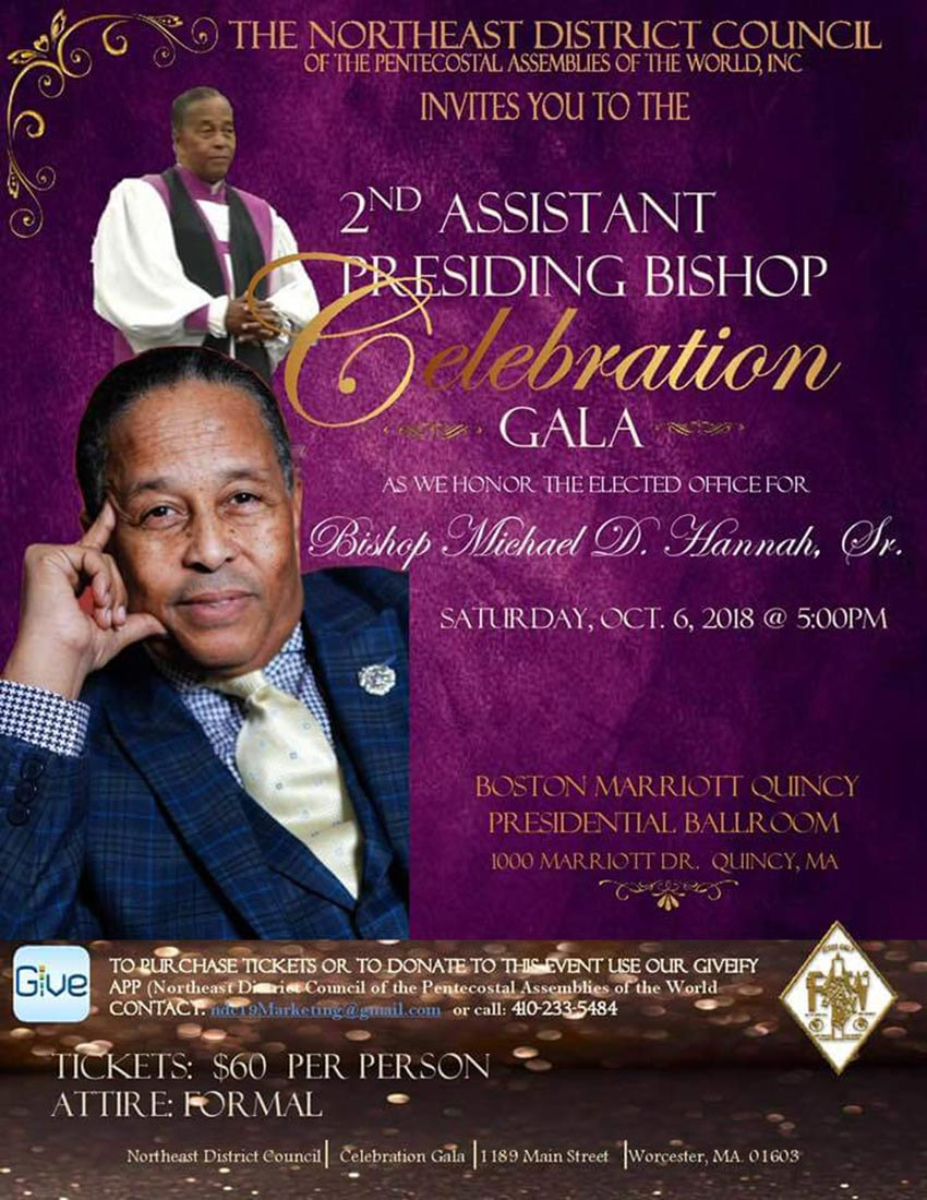 Bishop Hannah Celebration Gala