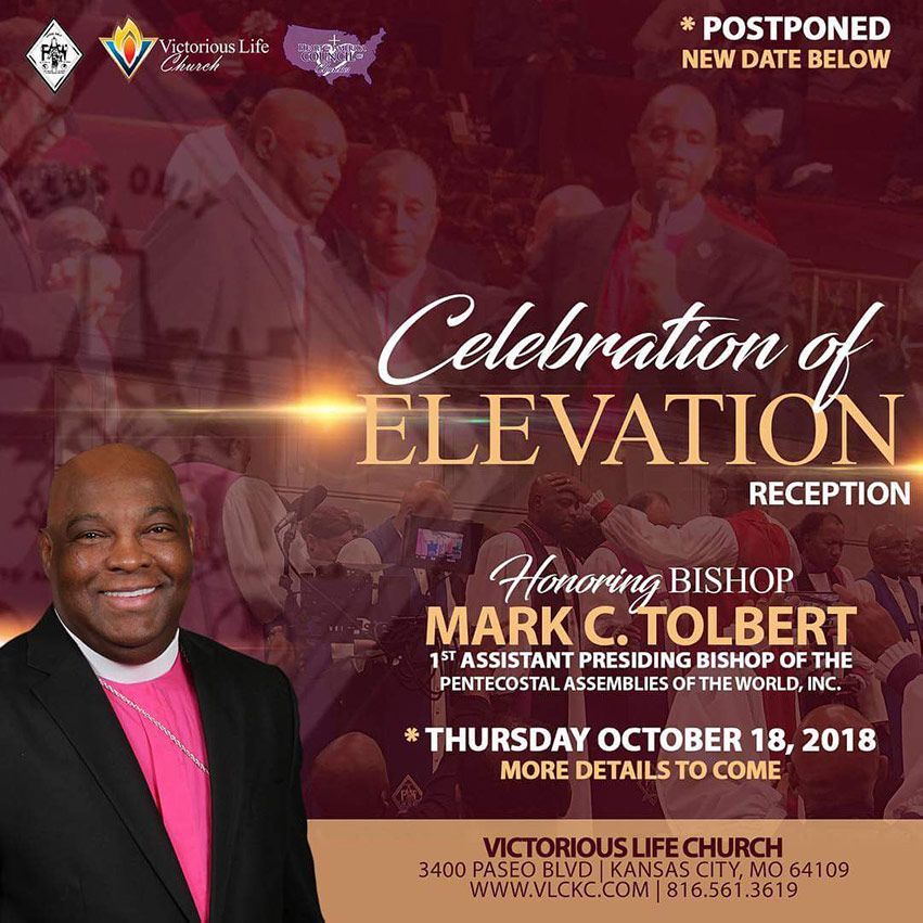 Bishop Tolbert Celebration of Elevation Reception