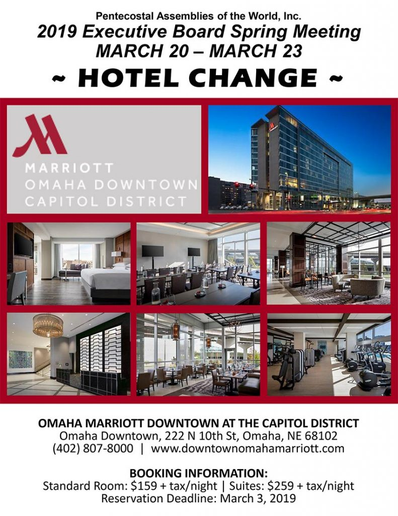 Spring Meeting 2019 Hotel change in Omaha, NE